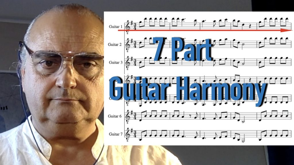 Guitar Harmony . 7 part guitar arrangment